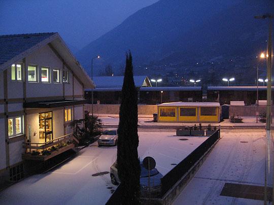 Schnee in Meran Südtirol am 04. Januar 2008